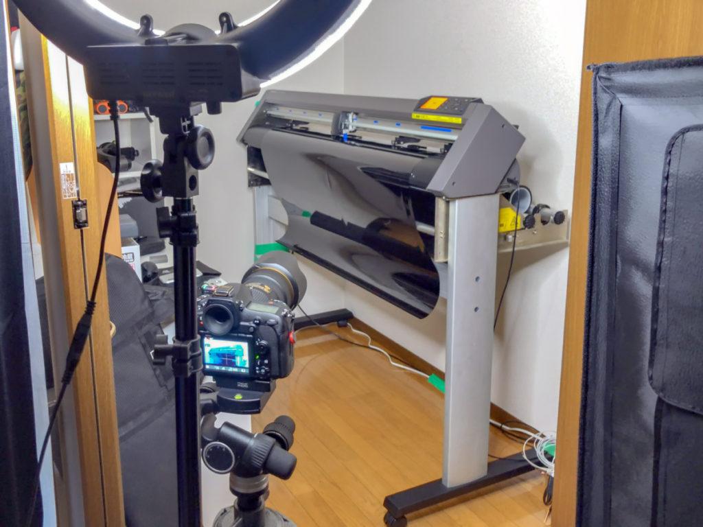 動画制作 D850 カーフィルムの精密カットマシン
