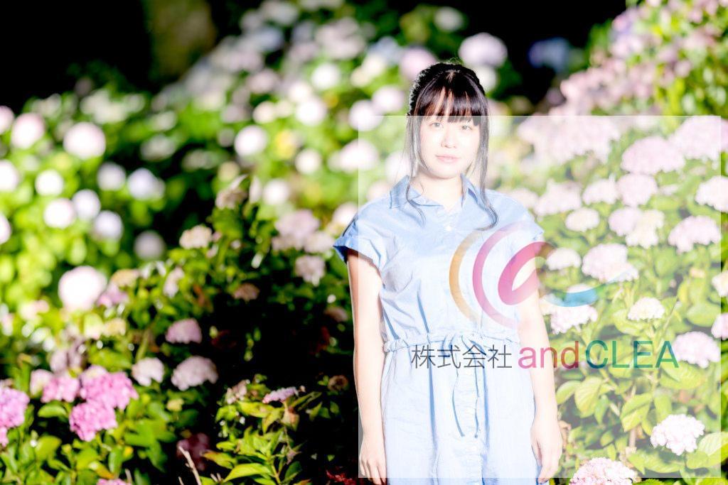 紫陽花ポートレート 住吉自然公園