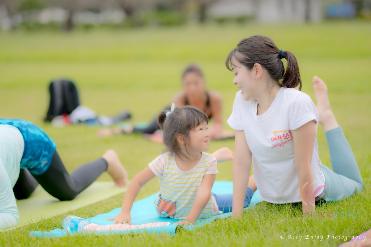 八景水谷公園でピクニックヨガ教室 パドマ&サハジ STLISH YOGA ROOM  Padma