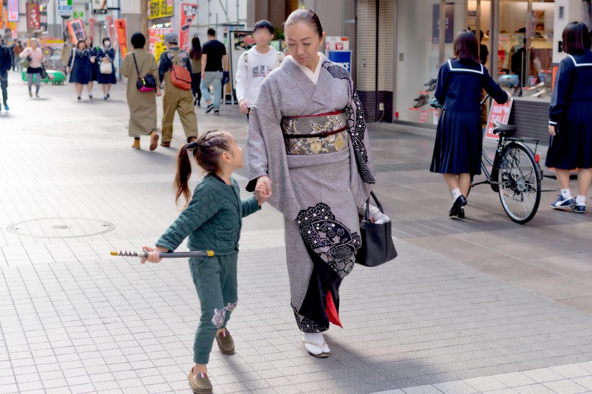 七五三 半日同伴での写真撮影 着付けで池田屋下通り店へ