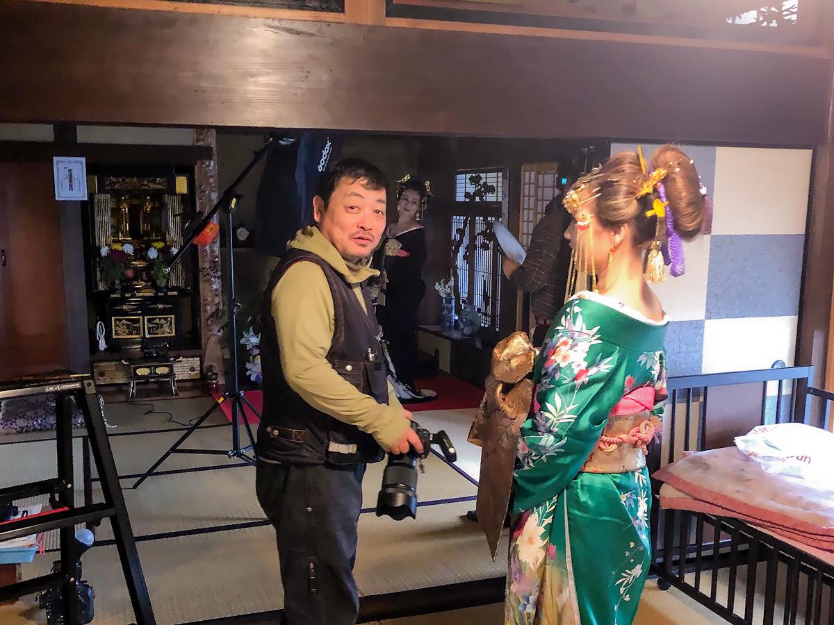 渡邊 晃(Accy) 花魁衣装 着付け 出張写真撮影